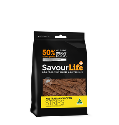 Savourlife Australian Chicken Strips 165g, The Dogs Stuff