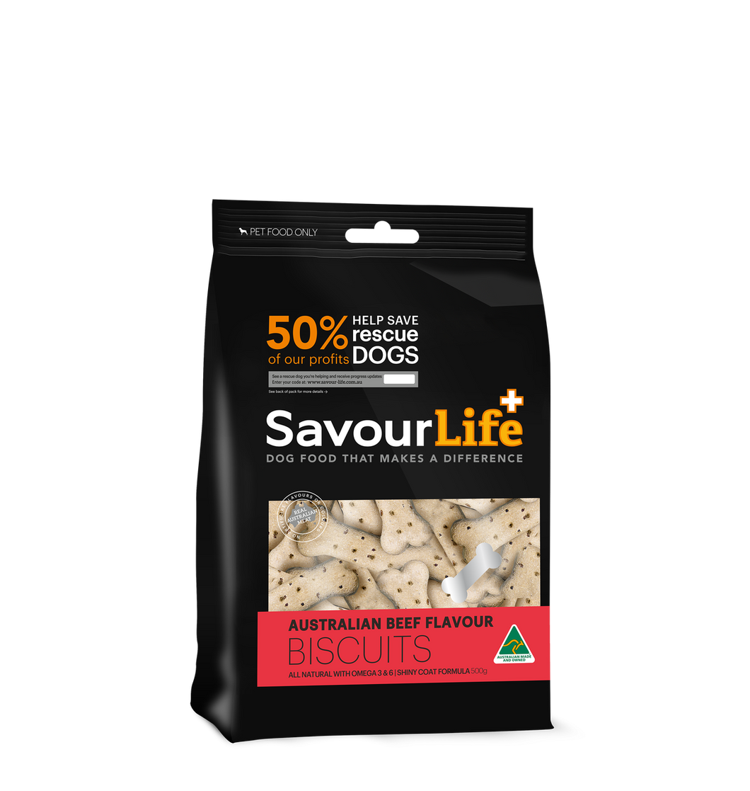 Savourlife Australian Beef Flavour Biscuit, The Dogs Stuff