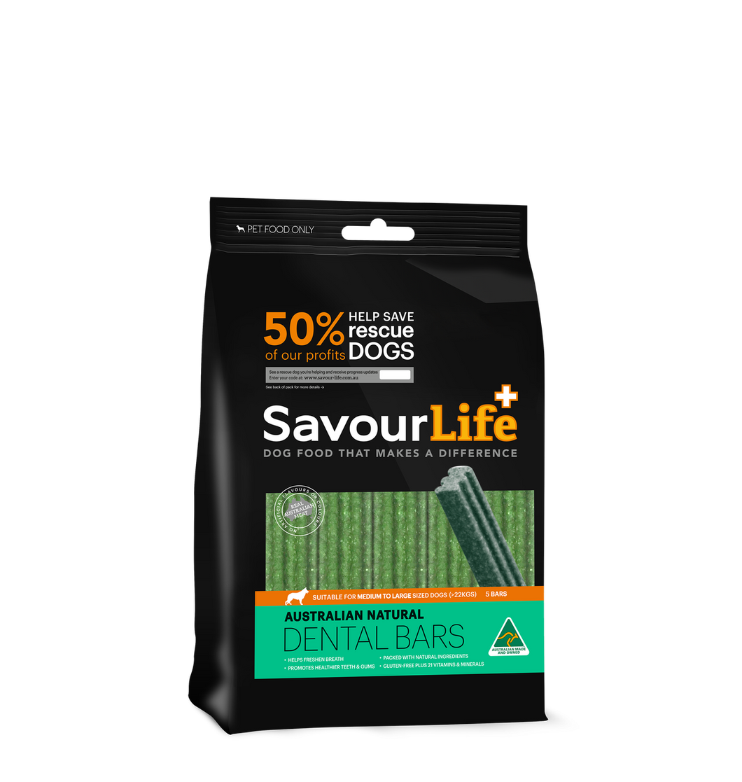 Savourlife Australian Natural Dental Bars for Med/Lge Dogs (5 Pack), The Dogs Stuff