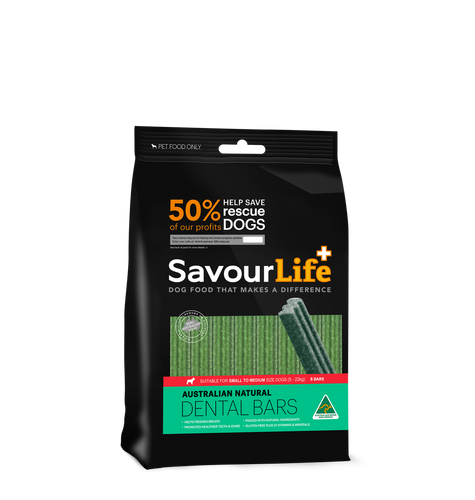 Savourlife Australian Natural Dental Bars for Sml/Med Dogs (8 pack), The Dogs Stuff