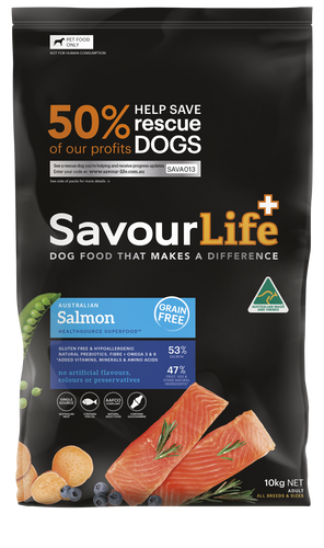 Savourlife Healthsource Superfood Grain-Free Salmon 10kg, The Dogs Stuff