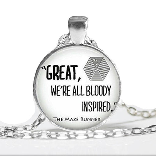 The Maze Runner Necklace Glass