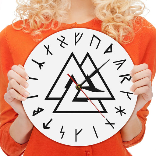 Viking Symbol Wall Clock