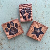 Rustic Wood Magnets Workshop! Nov. 10th (10am-12pm)