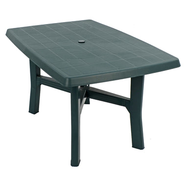 Trabella Taranto 4 Seater Plastic Garden Table in Green - Ruby's Garden Boutique