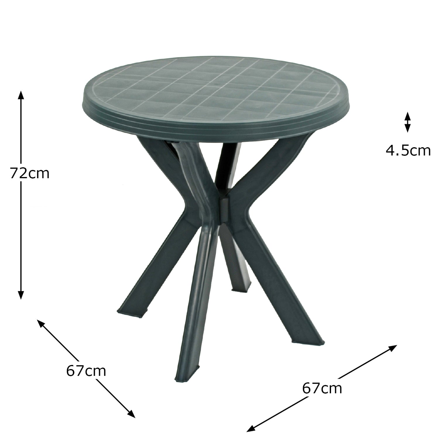 Trabella Tivoli Bistro Table Green - Ruby's Garden Boutique
