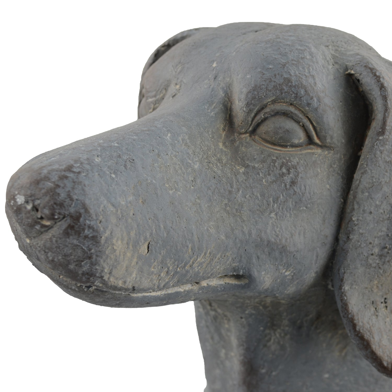 Solstice Sculptures Sausage Dog Planter 30cm Blue Iron Effect - Ruby's Garden Boutique
