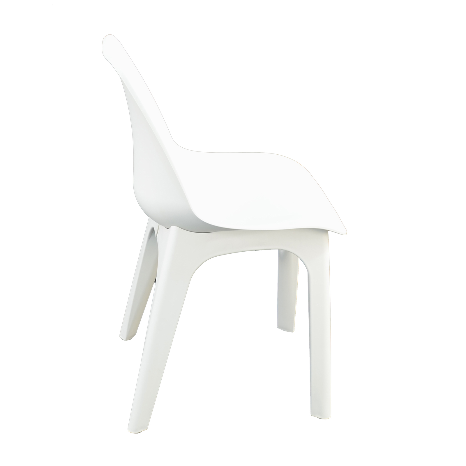 Trabella White Levante Dining Table With 2 Eolo Chairs