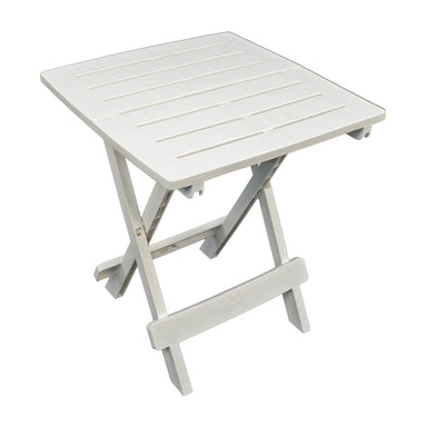 Trabella Bari Garden Patio Side Table White - Ruby's Garden Boutique