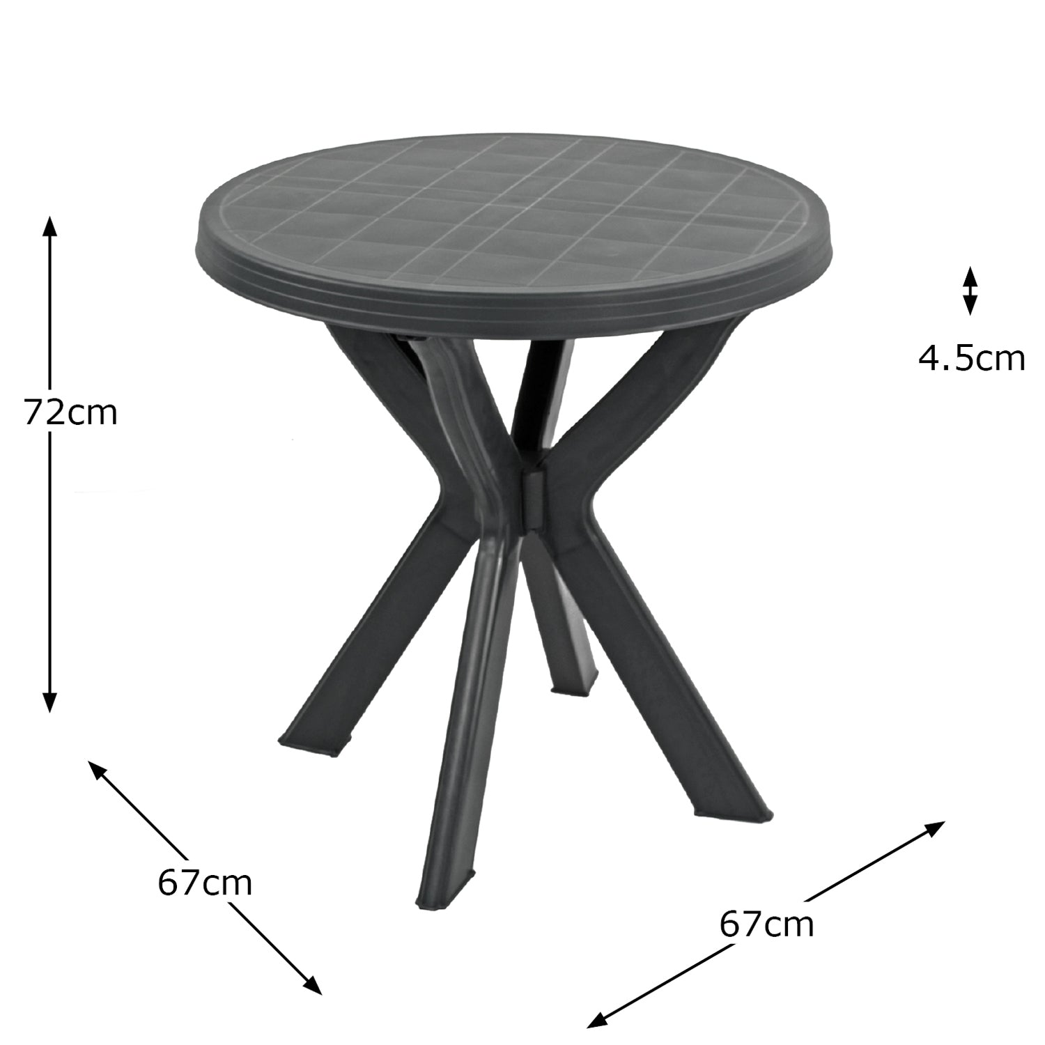 Trabella Tivoli Bistro Table Anthracite - Ruby's Garden Boutique