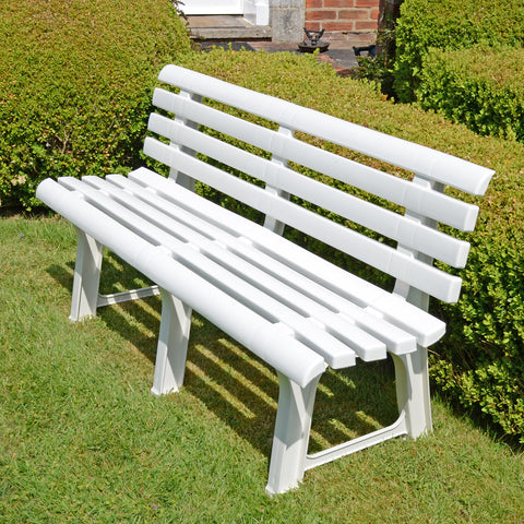 Trabella Brindisi Bench White - Ruby's Garden Boutique