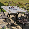 Image of Byron Manor Burlington Ceramic Garden Dining Table - Ruby's Garden Boutique