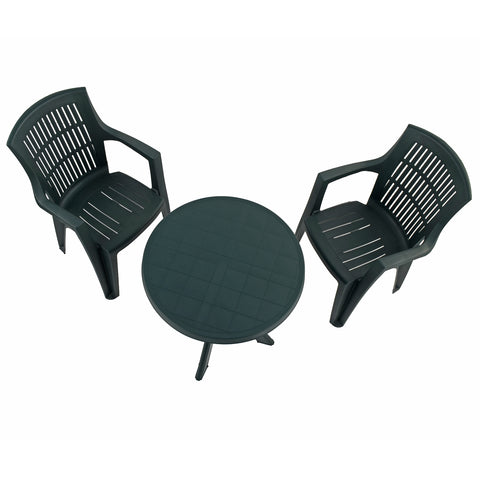 Trabella Tivoli Table With 2 Parma Chairs Garden Set Green - Ruby's Garden Boutique