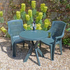 Image of Trabella Tivoli Table With 2 Parma Chairs Garden Set Green - Ruby's Garden Boutique