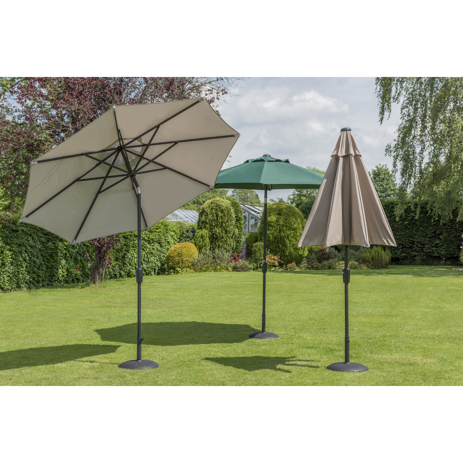 Garden Must Haves Elizabeth Green Parasol 2.7m