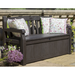 Keter Iceni Storage Bench with pillows looking pretty