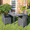 Image of Trabella Salerno Dining Table With 6 Sicily Chairs Patio Set Anthracite - Ruby's Garden Boutique