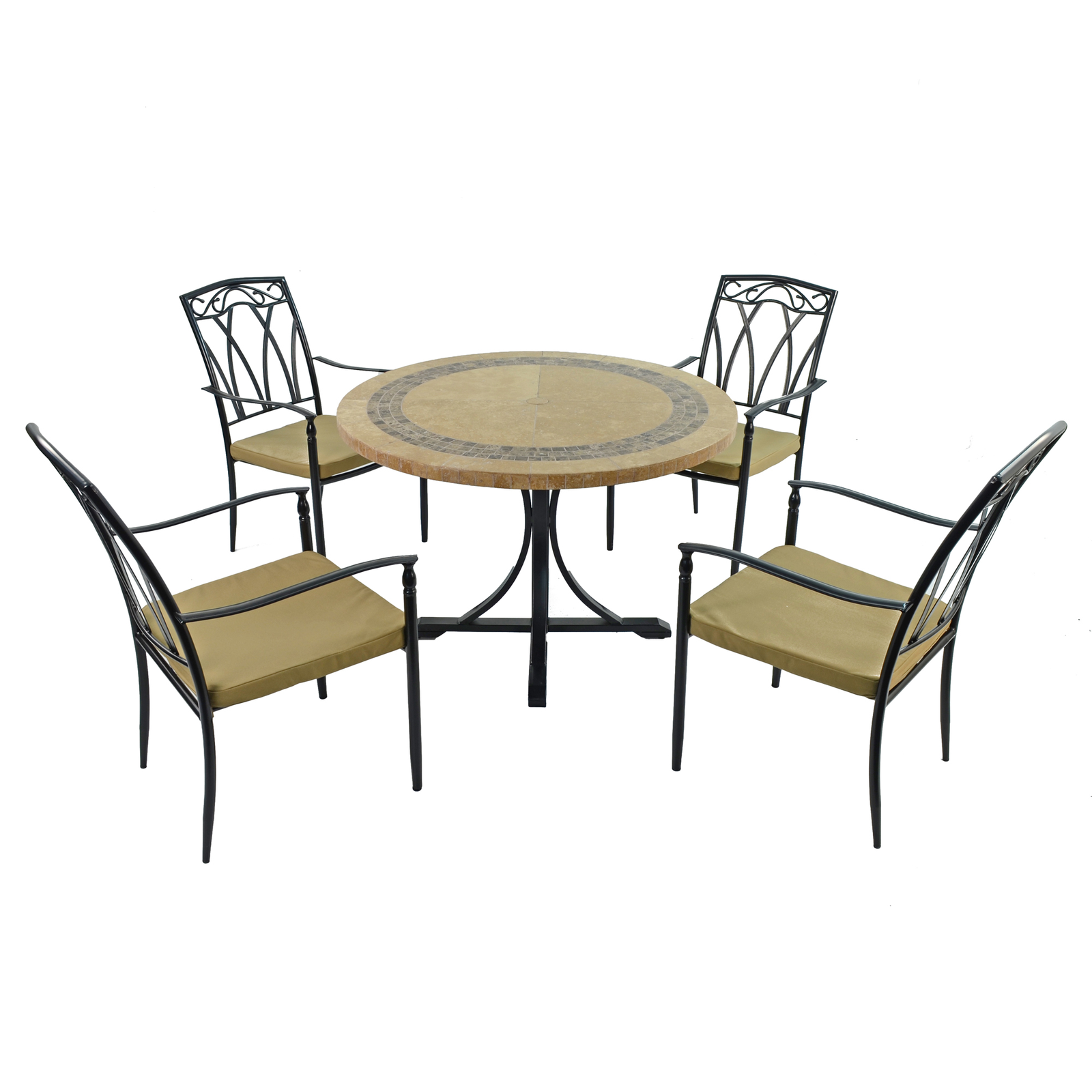 Byron Manor Vermont Dining Table With 4 Ascot Chairs