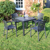 Image of Trabella Roma Square Table With 4 Siena Chairs Garden Set in Anthracite - Ruby's Garden Boutique