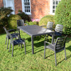 Image of Trabella Salerno Dining Table With 6 Siena Chairs Garden Set in Anthracite - Ruby's Garden Boutique