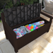 Keter Iceni Storage Bench showing pool items neatly packed away