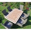 Image of Byron Manor Hampton Garden Dining Table With 6 Dorchester Chairs Set - Ruby's Garden Boutique
