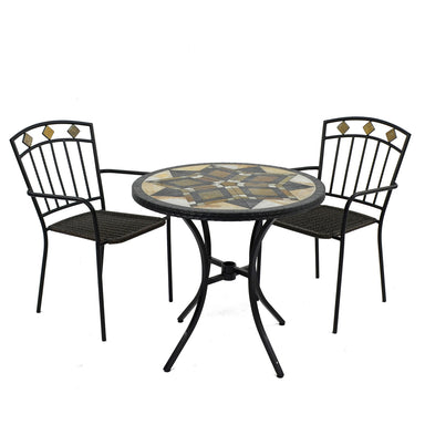 Exclusive Garden Darwin 76cm Bistro Table with 2 Malaga Chairs - Ruby's Garden Boutique