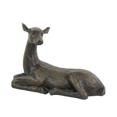 Solstice Sculptures Deer Lying Large 36cm Aluminium Dark Verdigris - Ruby's Garden Boutique