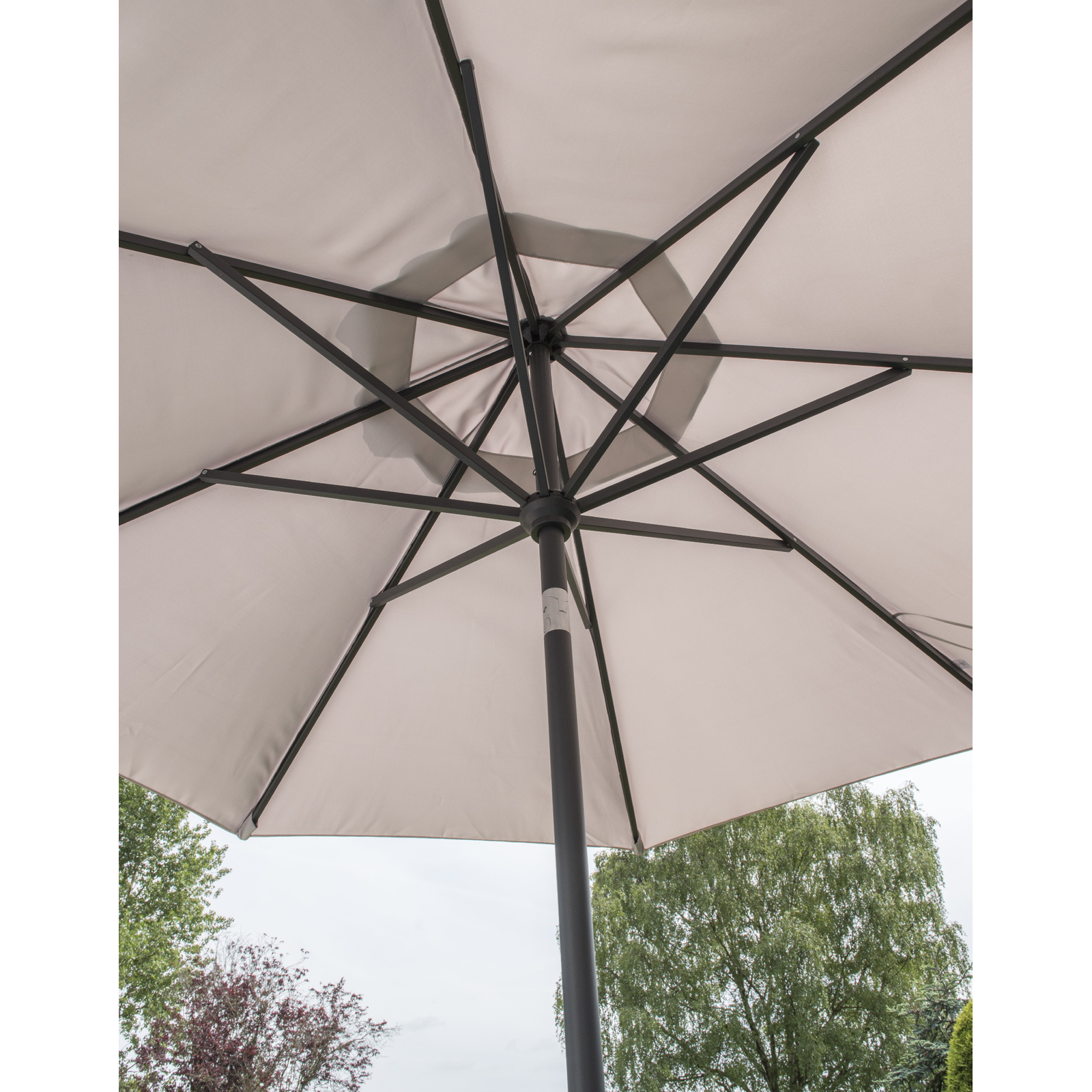 Garden Must Haves Elizabeth Carbon Parasol 2.2m