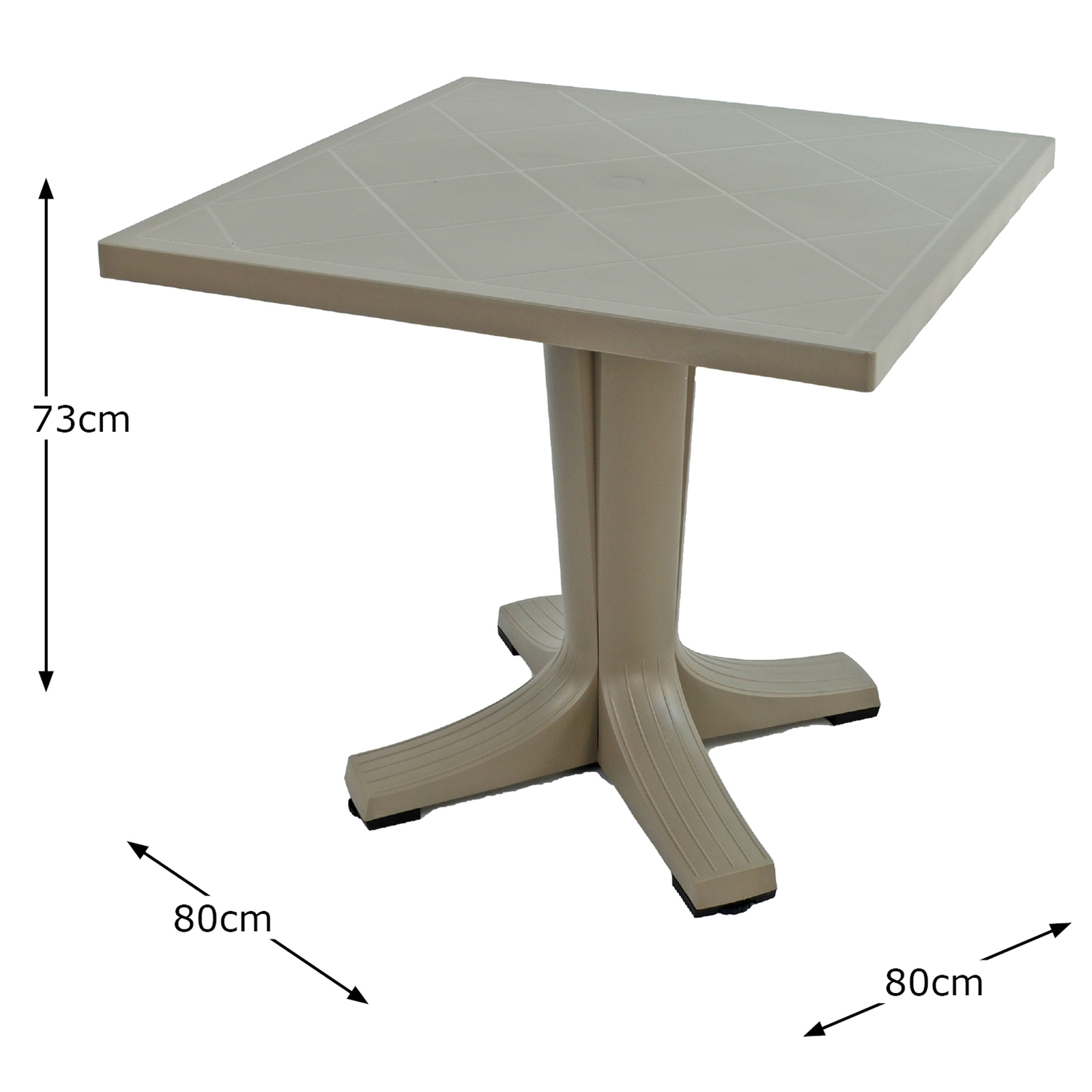 Nardi Giove 80cm Square Table Turtle Dove