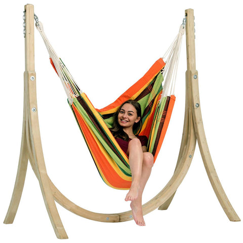 Amazonas Taurus Set Esmeralda Hammock and Wooden Stand Set - Ruby's Garden Boutique