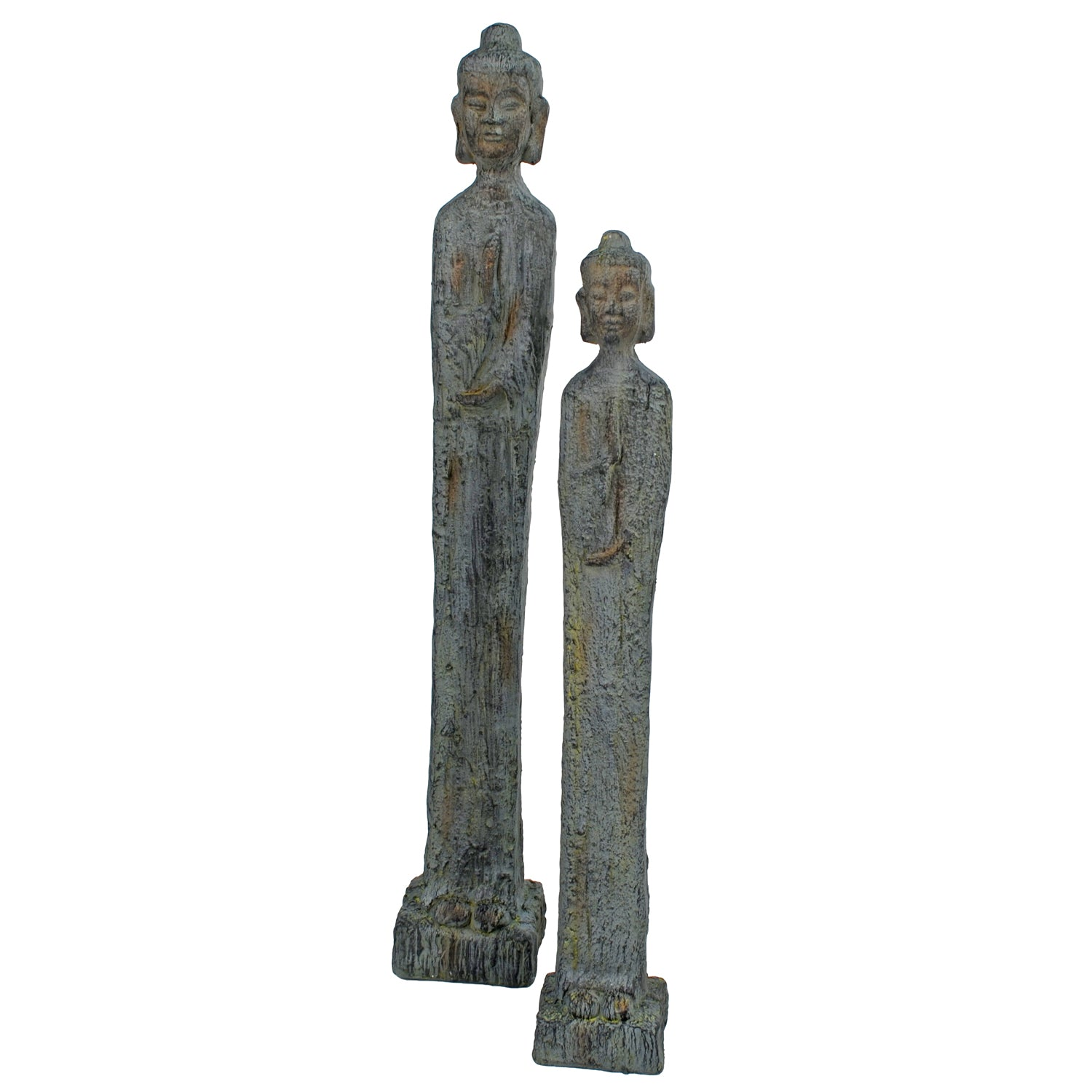 Solstice Sculptures Buddha Thin Tall 100cm Patina Bronze Effect - Ruby's Garden Boutique