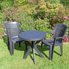 Image of Trabella Tivoli Table With 2 Parma Chairs Garden Set Anthracite - Ruby's Garden Boutique