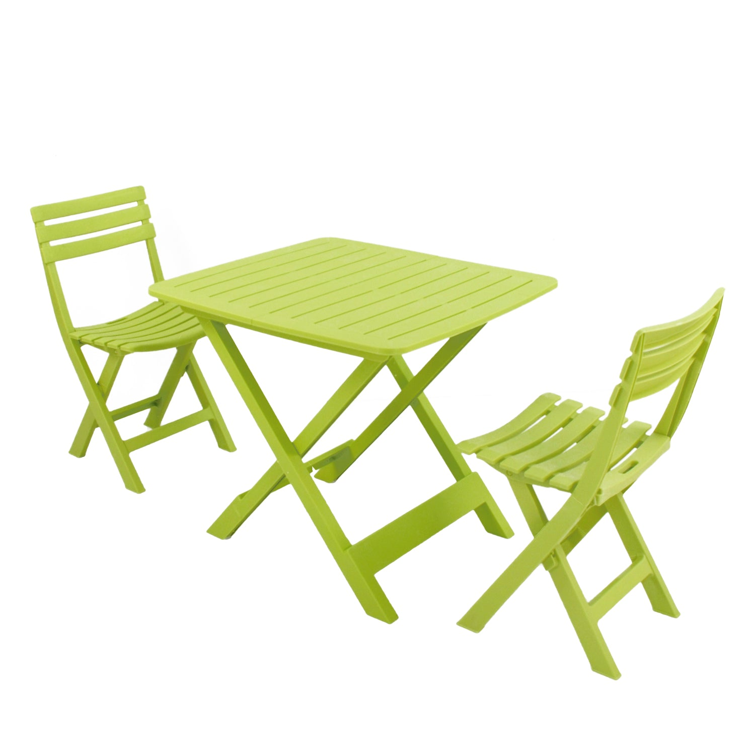 Trabella Brescia Folding Table With 2 Brescia Chairs Set Lime - Ruby's Garden Boutique