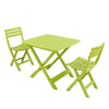 Image of Trabella Brescia Folding Table With 2 Brescia Chairs Set Lime - Ruby's Garden Boutique