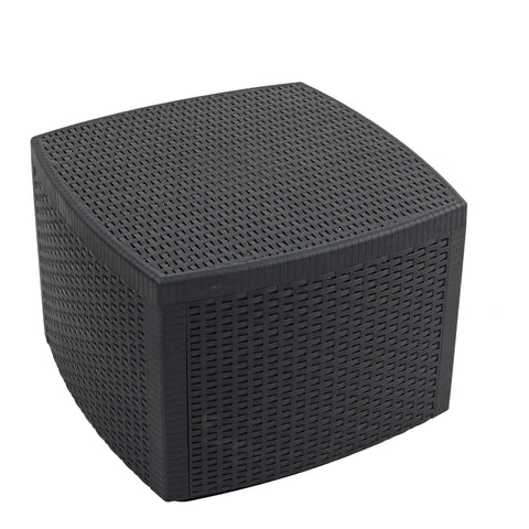 Trabella Sicily Side Table with Storage in Anthracite - Ruby's Garden Boutique