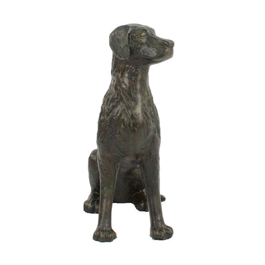 Solstice Sculptures Dog 56cm Aluminium Dark Verdigris - Ruby's Garden Boutique