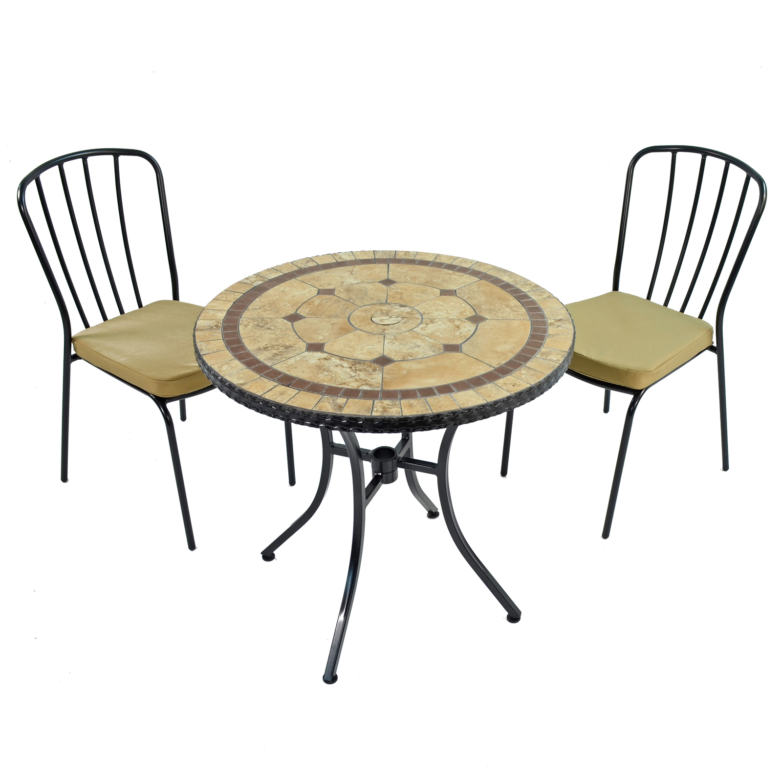 Exclusive Garden Richmond 76cm Bistro With 2 Milan Chairs Set