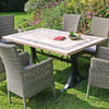 Image of Byron Manor Charleston Dining Table With 6 Dorchester Chairs Set - Ruby's Garden Boutique