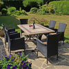 Image of Byron Manor Charleston Dining Table With 6 Stockholm Black Chairs - Ruby's Garden Boutique