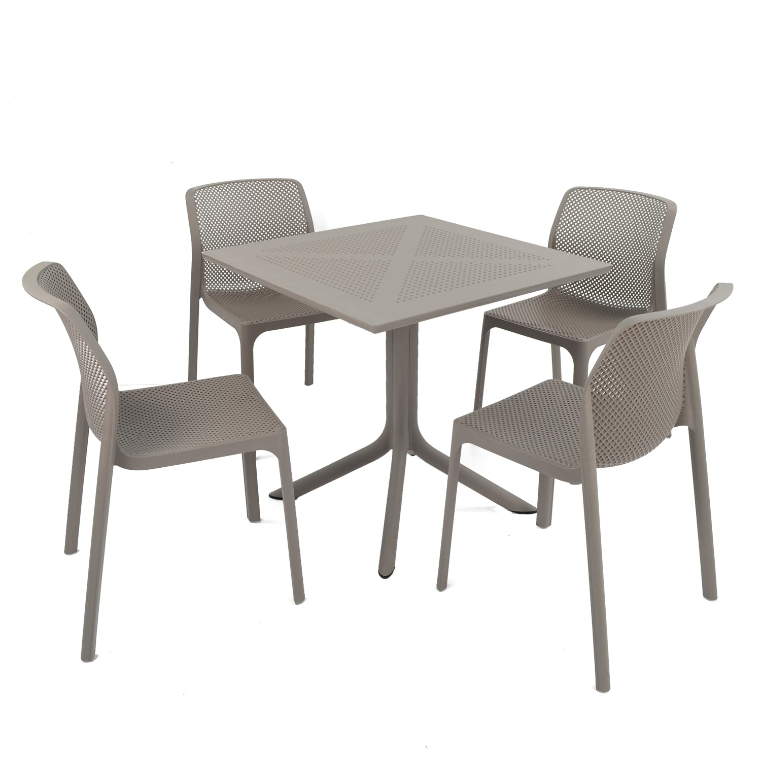 Nardi Clip Dining Table with 4 Bit Chairs Turtle Dove - Ruby's Garden Boutique