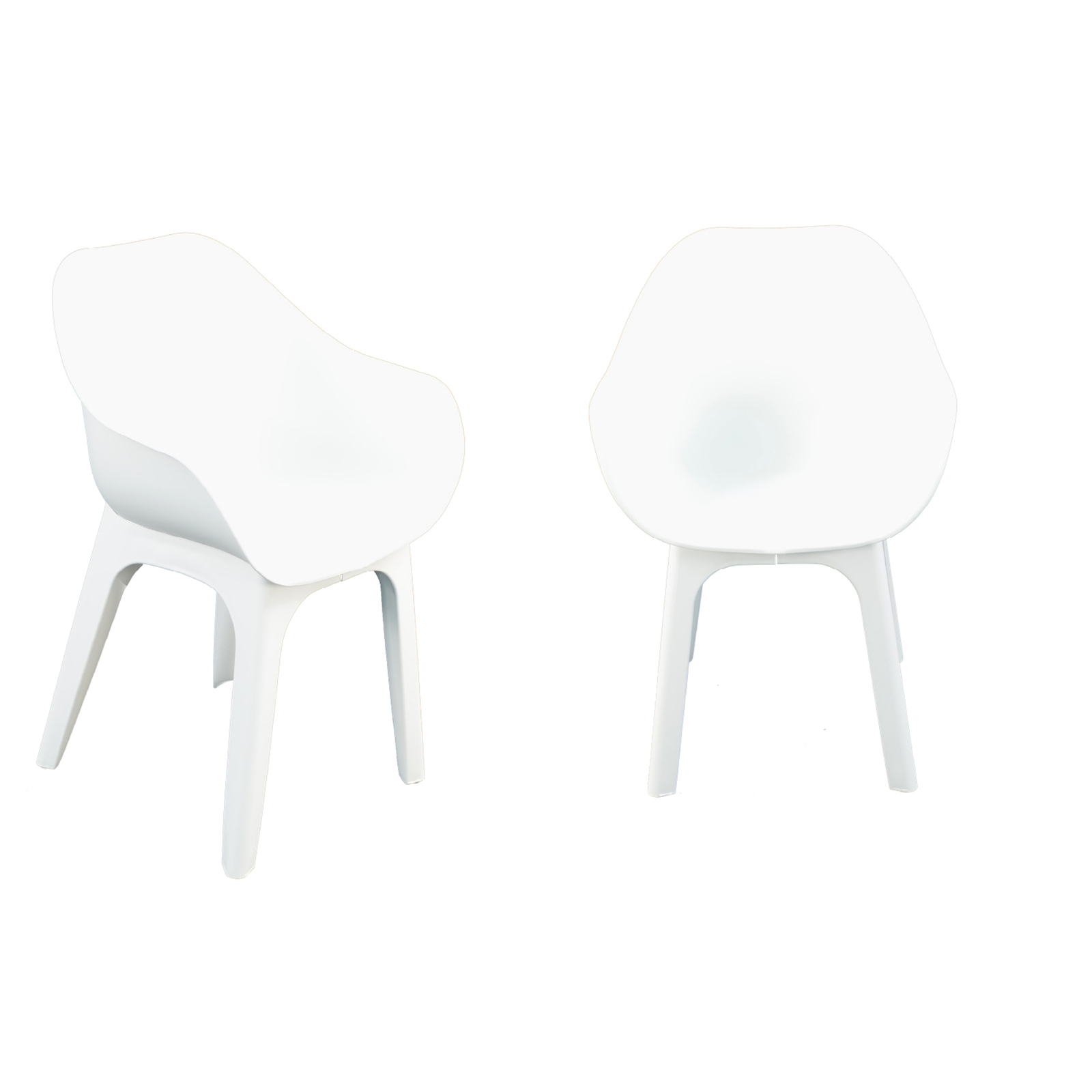 Trabella Ghibli Chair Pack Of 2 in White
