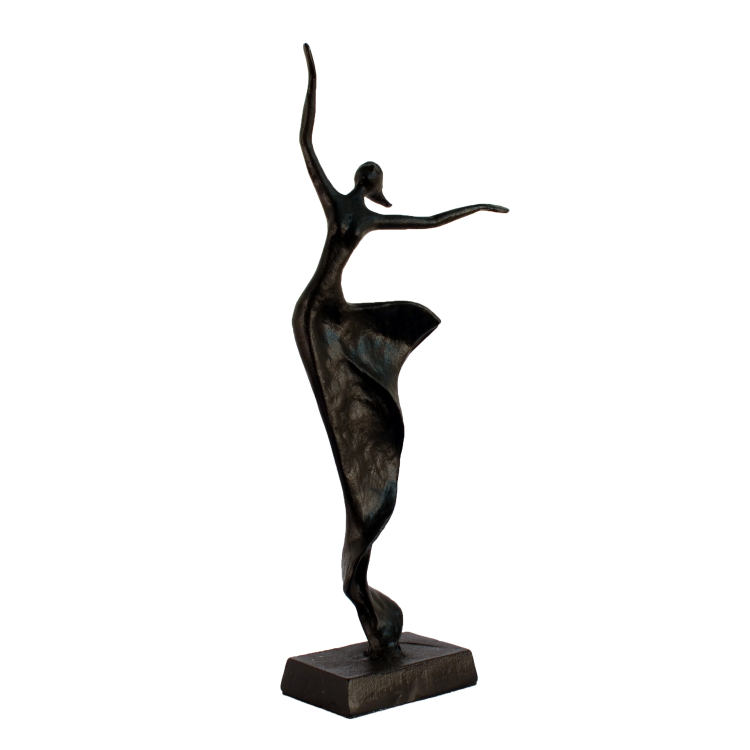 Elur Margot Dancer Statue Iron Figurine 40cm in Mocha Brown - Ruby's Garden Boutique