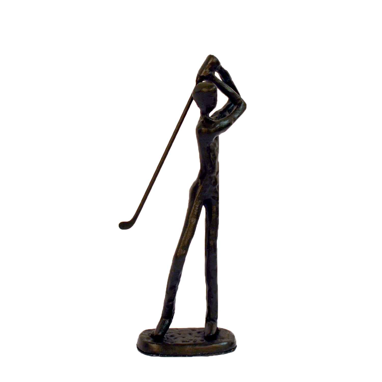 Elur Golfer Iron Statue Figurine 19cm in Mocha Brown - Ruby's Garden Boutique