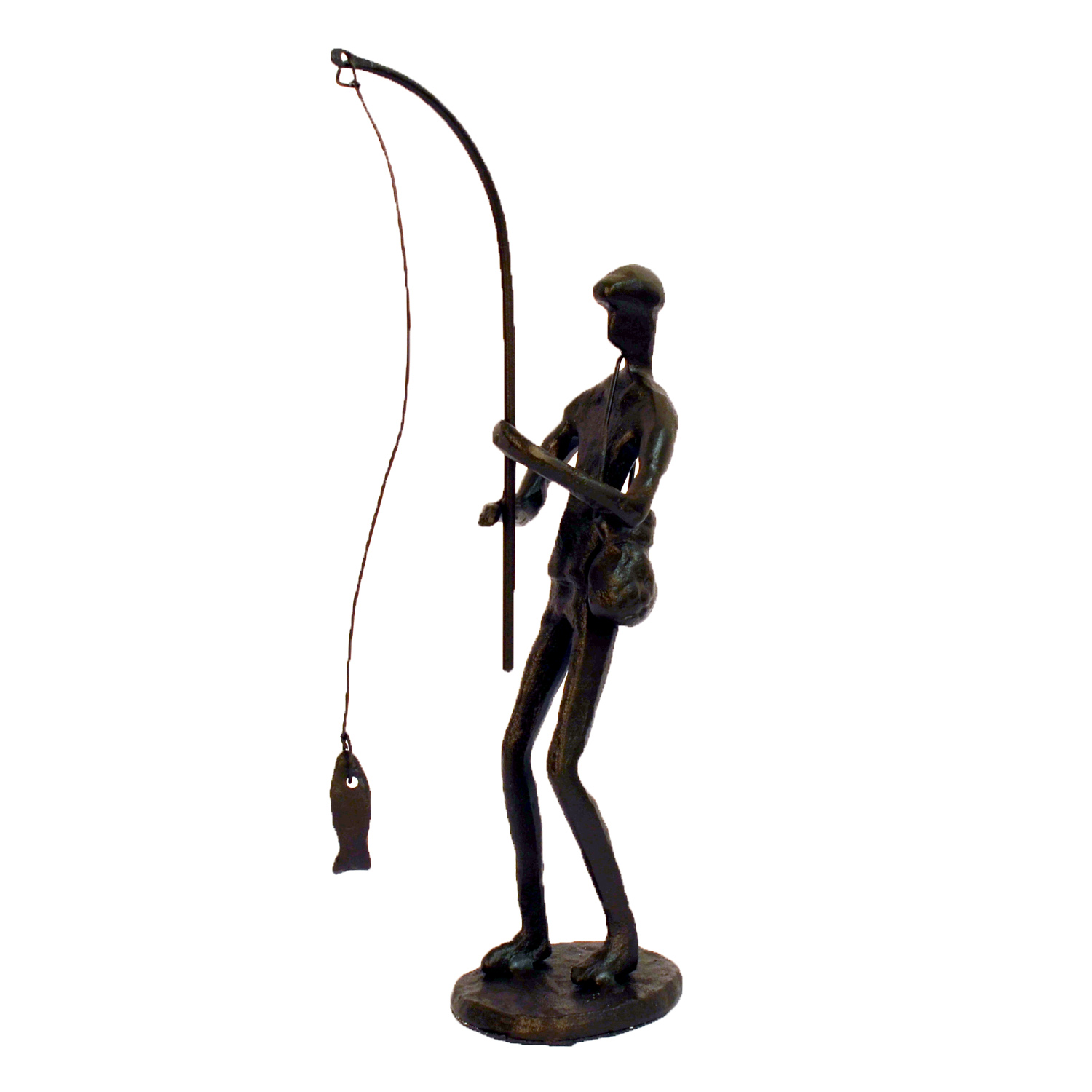 Elur Angler Iron Statue Figurine 22cm in Mocha Brown - Ruby's Garden Boutique