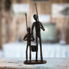 Image of Elur Fishing Trip Statue Figurine 21cm in Mocha Brown - Ruby's Garden Boutique