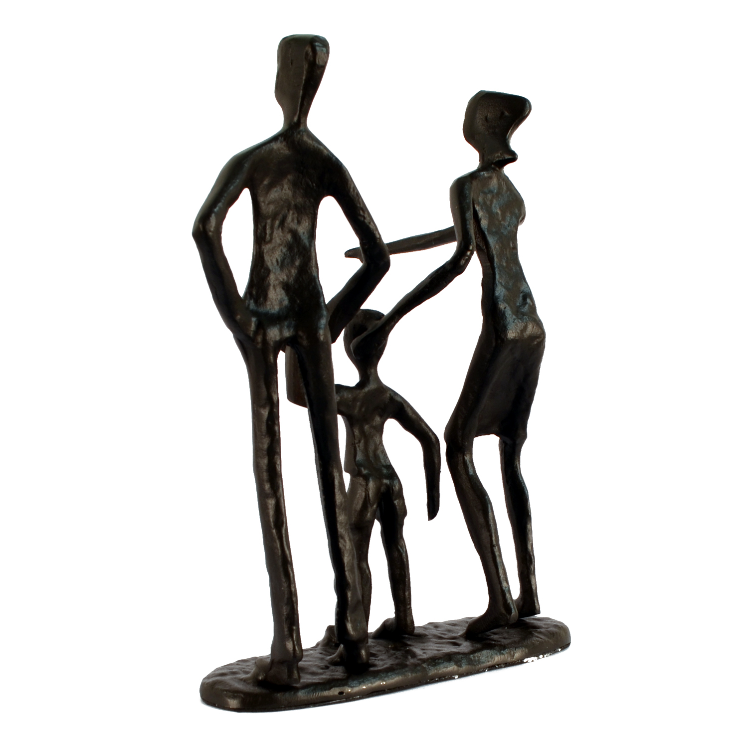 Elur Family 3 Outing Iron Status Figurine 19cm in Mocha Brown - Ruby's Garden Boutique