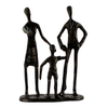 Image of Elur Family 3 Outing Iron Status Figurine 19cm in Mocha Brown - Ruby's Garden Boutique