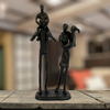 Image of Elur Family 4 Outing Iron Status Figurine 21cm in Mocha Brown - Ruby's Garden Boutique