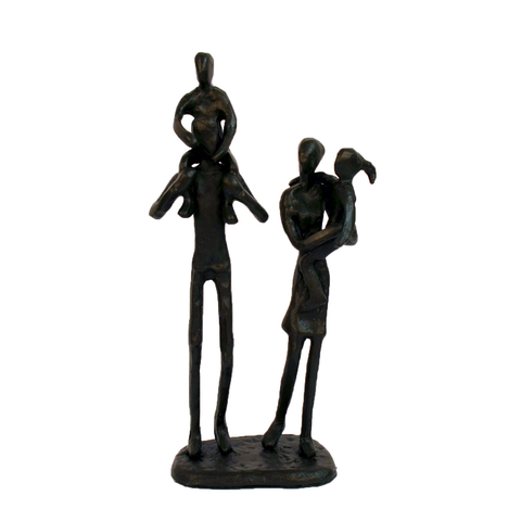 Elur Family 4 Outing Iron Status Figurine 21cm in Mocha Brown - Ruby's Garden Boutique